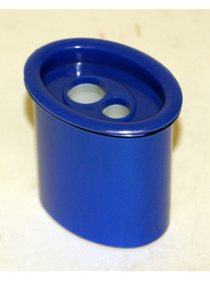 2 Hole Barrel Pencil Sharpener - Metallic Blue